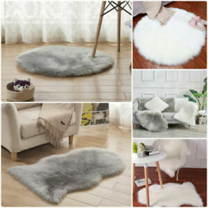 Fluffy Faux Fur Sheepskin Rug Floor