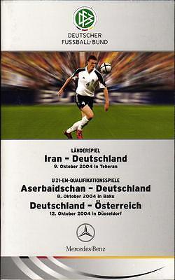 09.10.2004 Iran - Deutschland In Teheran + Aserbaidschan / Österreich - D. U 21