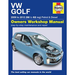 vw golf mk6 1 4 petrol 1 6 2 0 diesel 2009 12 58 to 62 reg haynes rh ebay com vw golf vi owners manual pdf volkswagen golf 6 service manual