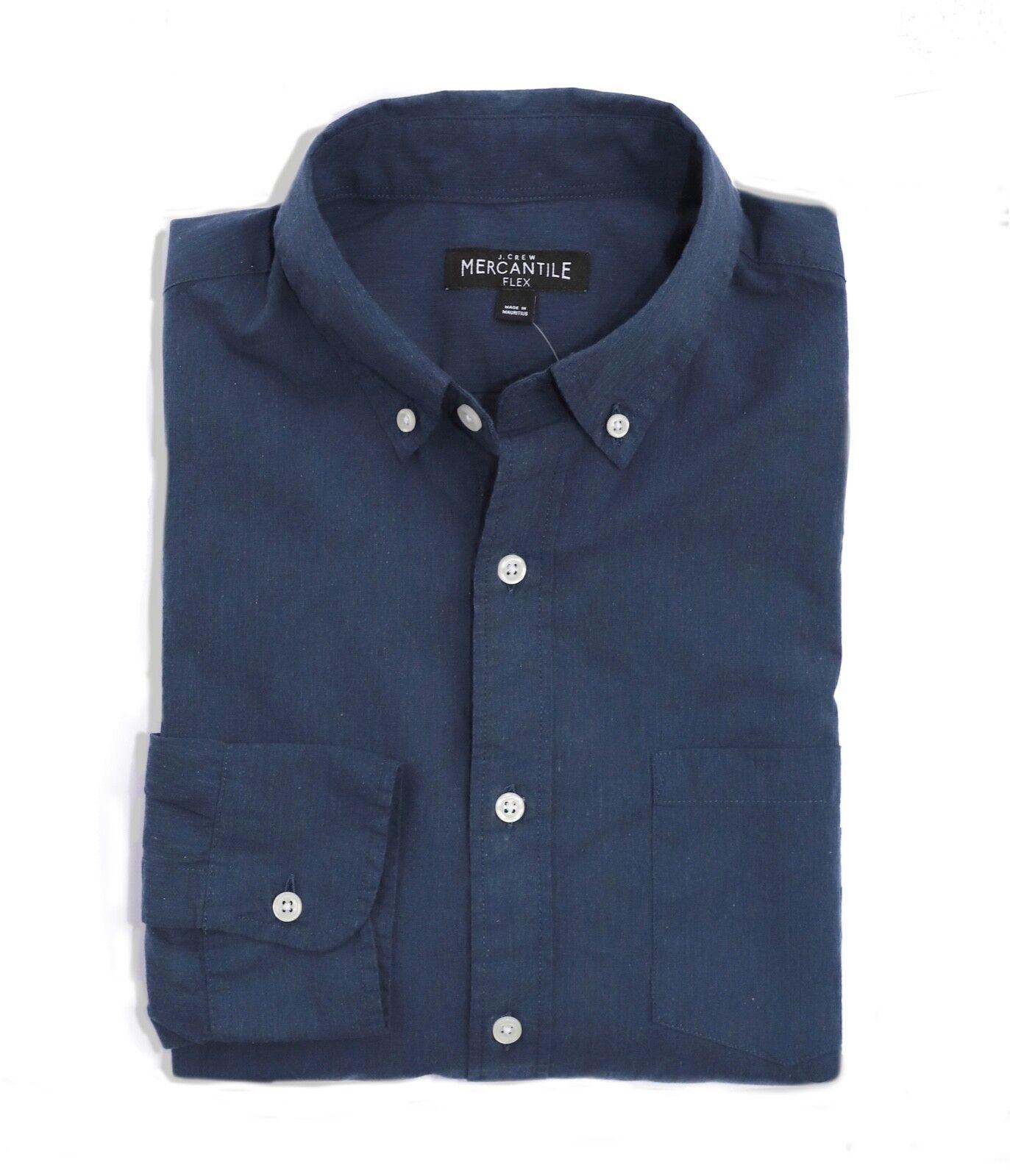 J.Crew Mercantile Mens XS Slim Fit - Light-Weight Indigo Flex Washed Shirt