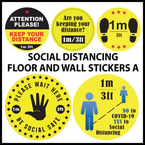 Social Distancing 1m Floor Wall Sticker 200mm Waterproof Vinyl 1 Metre Sticker A