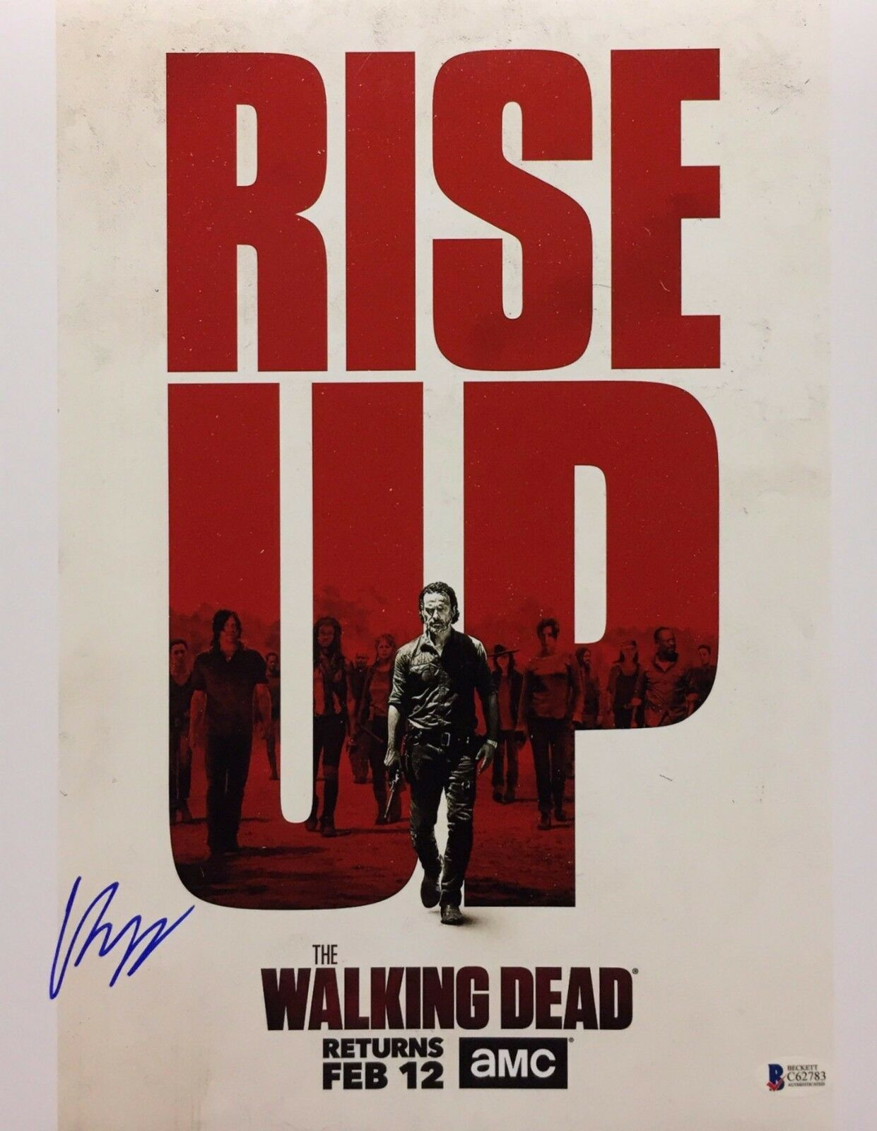 Chandler Riggs Signed 'The Walking Dead' 11x14 Photo BAS C62783