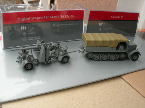 CANON 8,8 cm FLAK 37 USSR 1941 !! IXO 1//72 MILITAIRE TRACTEUR FAMO 18t sdkfz 9