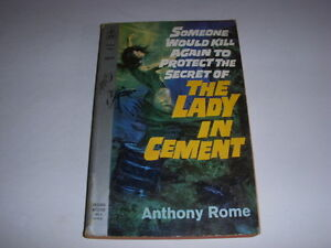Vintage-THE-LADY-IN-CEMENT-by-ANTHONY-ROME-POCKET-BOOK-6059-1961-PAPERBACK