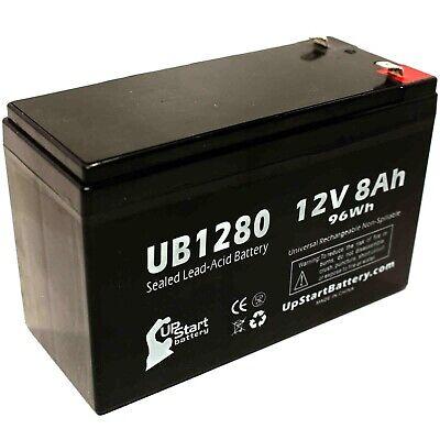 BE500U UPS Battery 4 Pack 12V 8AH AB1280 F1 APC Back-UPS ES 500 VA BE500C