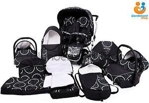 Twin-Pushchair-Pram-CAR-SEATS-Double-Twins-UMBRELLA-FOOTMUFFS-51-COLOURS