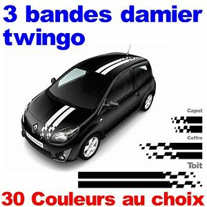 kit bandes stickers renault twingo gt racing tuning autocollant megane clio ebay. Black Bedroom Furniture Sets. Home Design Ideas