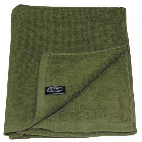 Handtuch Frottee oliv 110 x 50 cm Duschtuch Baumwolle Gästetuch Armee Camping