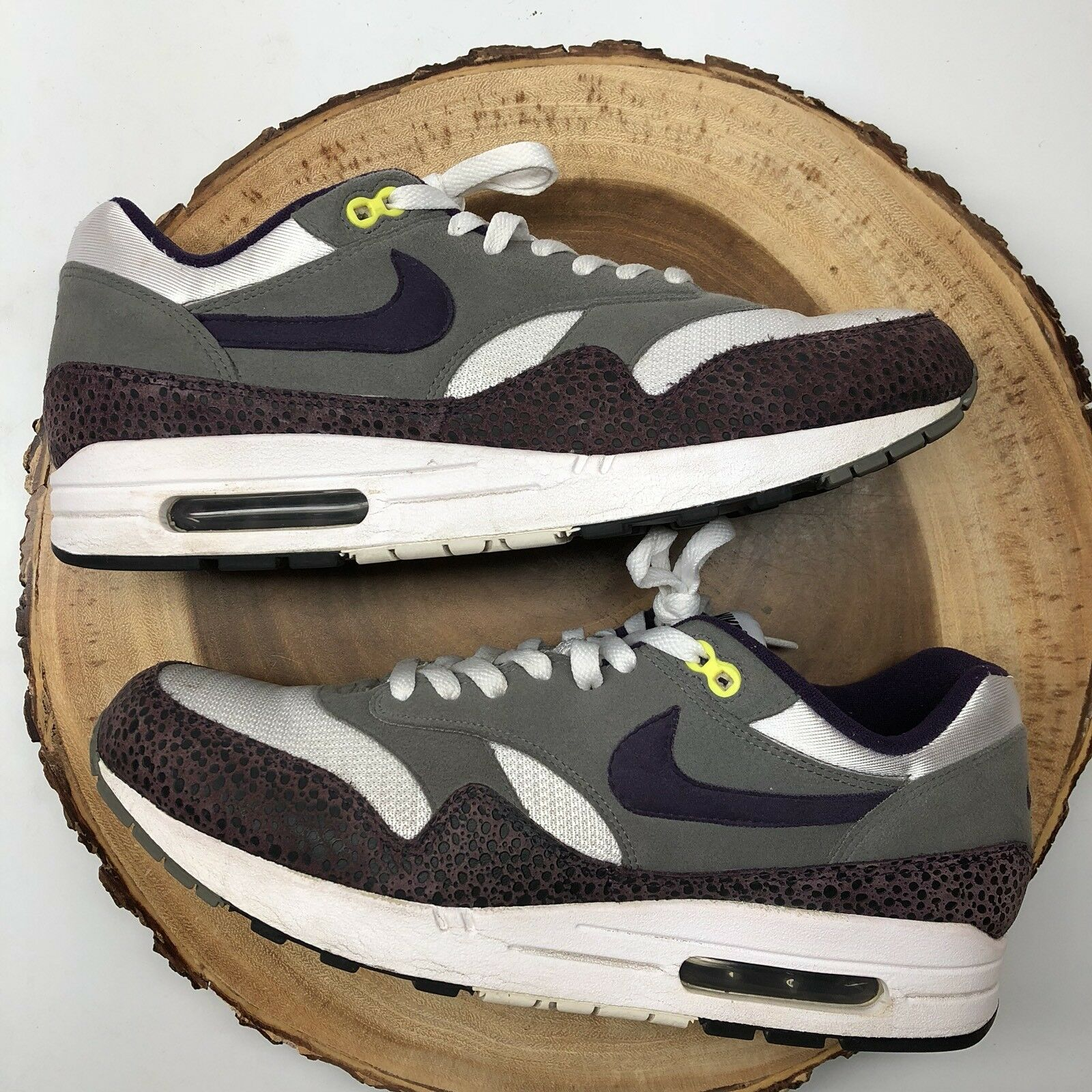 NIKE AIR MAX 1 SAFARI GRAND PURPLE Sz 12 ATMOS PATTA 180 90 SUPREME Parra Kith