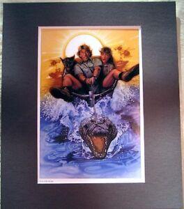 Crocodile-Hunter-Film-Art-Affiche-Imprime-Mat