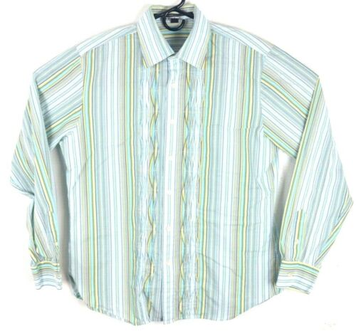 ISDA & Co Button Front Shirt Large Men's Multi-col