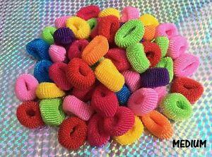 100-Mini-Assorted-Colour-Elastic-Baby-Girls-Kids-Toddler-Hair-Bands-Bobbles