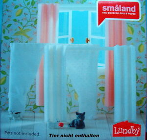 3 gardinen puppenhaus lundby sm land 2015 ebay. Black Bedroom Furniture Sets. Home Design Ideas