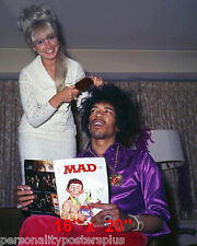"Jimi Hendrix~Hair Salon~Mad Magazine~Barber~Photo~Decor~Stylist~Poster~16"" x 20"""