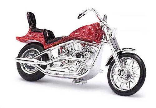 américain moto rouge métallisé Busch 40153 h0 fini modèle 1:87