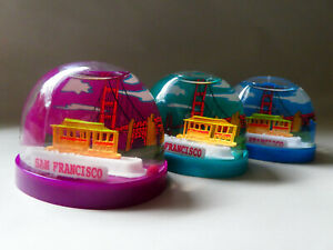 Vintage San Francisco Snow Globe - Souvenir Water Globe - Moving Cable Car