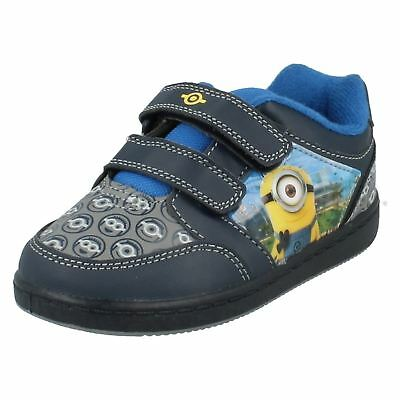"""Boys Official Minions Blue /""""NYC/""""  Trainers UK Infant Size 9 /& 10"""