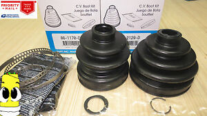 Front Inner /& Outer CV Axle Boot Kit for Nissan Pathfinder w// 4wd 4x4 1990-1995