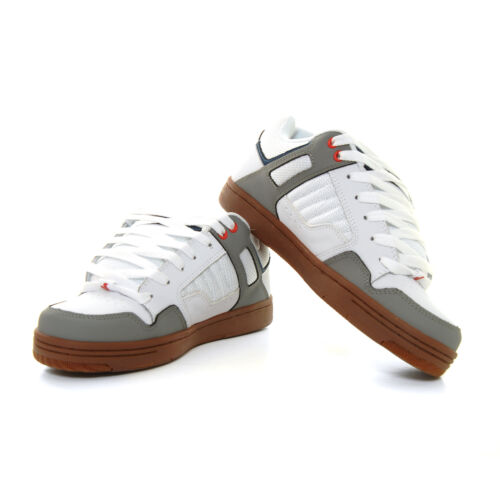 DVS Enduro 125 Shoes White Grey Blue Red Nubuck