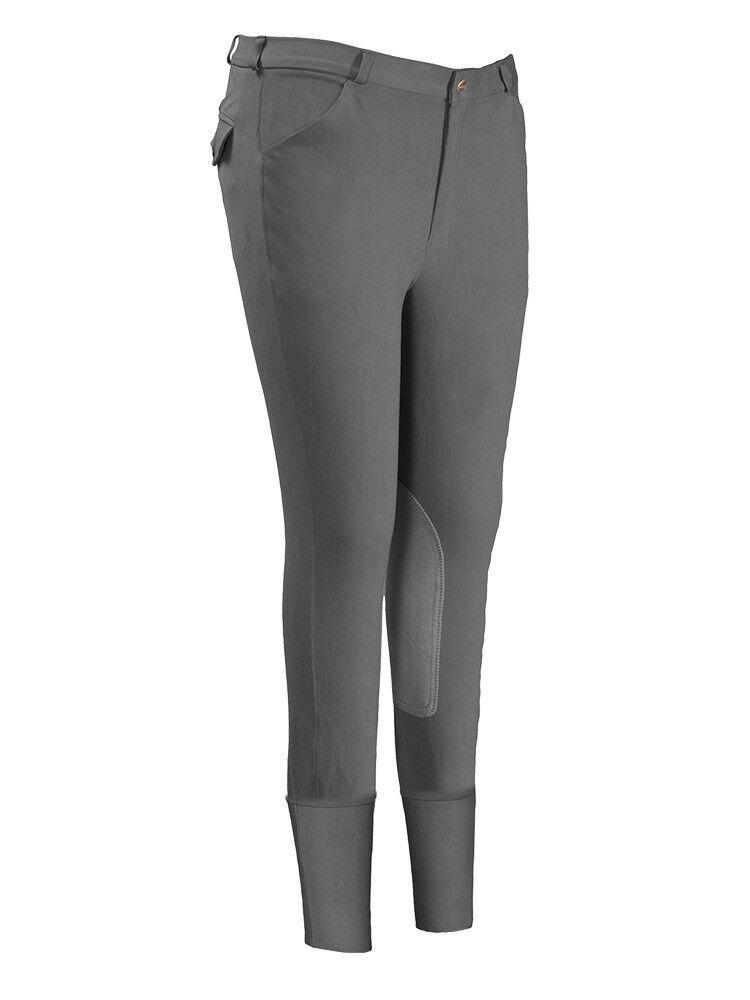 Tuffrider para Hombre Pantalones De Montar Equitación patrulla cuatro bolsillos algodón Spandex