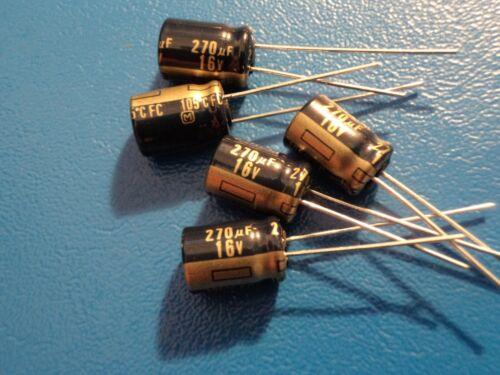 Panasonic condensateur électrolytique 16 V 270uf 105 C FC série Qty = 5
