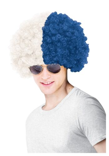 NEW YORK YANKEES BLUE AND WHITE SPORTS AFRO WIG