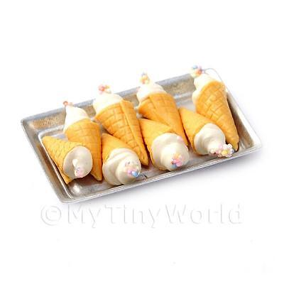 Houses, Miniatures Amiable Dolls House Miniature White Marshmallow Cones On A Tray Limpid In Sight