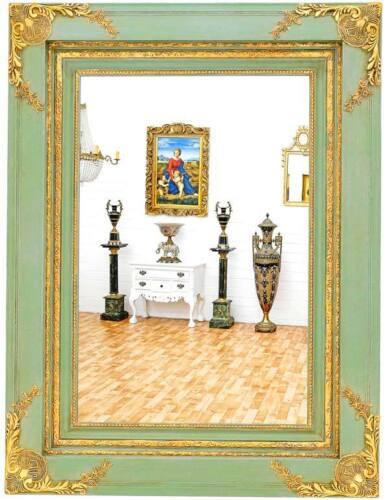 125x95cm NEUF miroir dans le style antique élevé-et de travers Luxe Miroir mural vert-or env