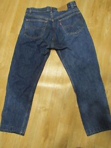 Women`s Vintage Levi`s 501 High Waisted Mom Jeans UK 14 W34 L32 Made in USA