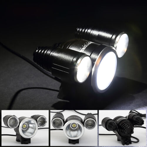 stark fahrradlampe scheinwerfer 3x cree xm l l2 led 6000lm bikelight front licht. Black Bedroom Furniture Sets. Home Design Ideas