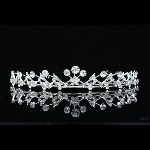 Floral Bridal Headpiece Crystal Rhinestone Prom Wedding Tiara V676
