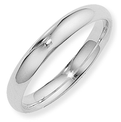 Argentium Silver Court 4mm Wedding Band Ring Size S Full UK Hallmarks