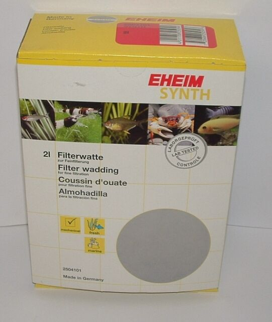 Eheim 2504101 Ehfisynth 2 Litre. Filtre Fin Wadding. Aquarium Filtre