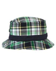 GYMBOREE PREPSTER PUP PLAID BUCKET HAT 3 4 5 7 8 9 10 NWT