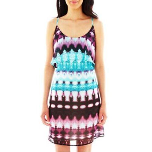 12P Fynn /& Rose Ruffled Bodice Dress Petite New 4P