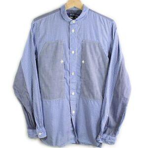 Comme-Des-Garcon-Junya-Watanabe-Button-Down-Patchwork-Checkered-Henley-Shirt