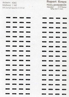 Intenzionale N-loknummern A Vapore Dr 01-52 Argento Su Nero, Serigrafia Decals Kreye 160-1481-mostra Il Titolo Originale