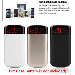 DIY-Power-Bank-Case-10000mAh-Dual-USB-Battery-Charger-Box-Shell-with-LED-Display