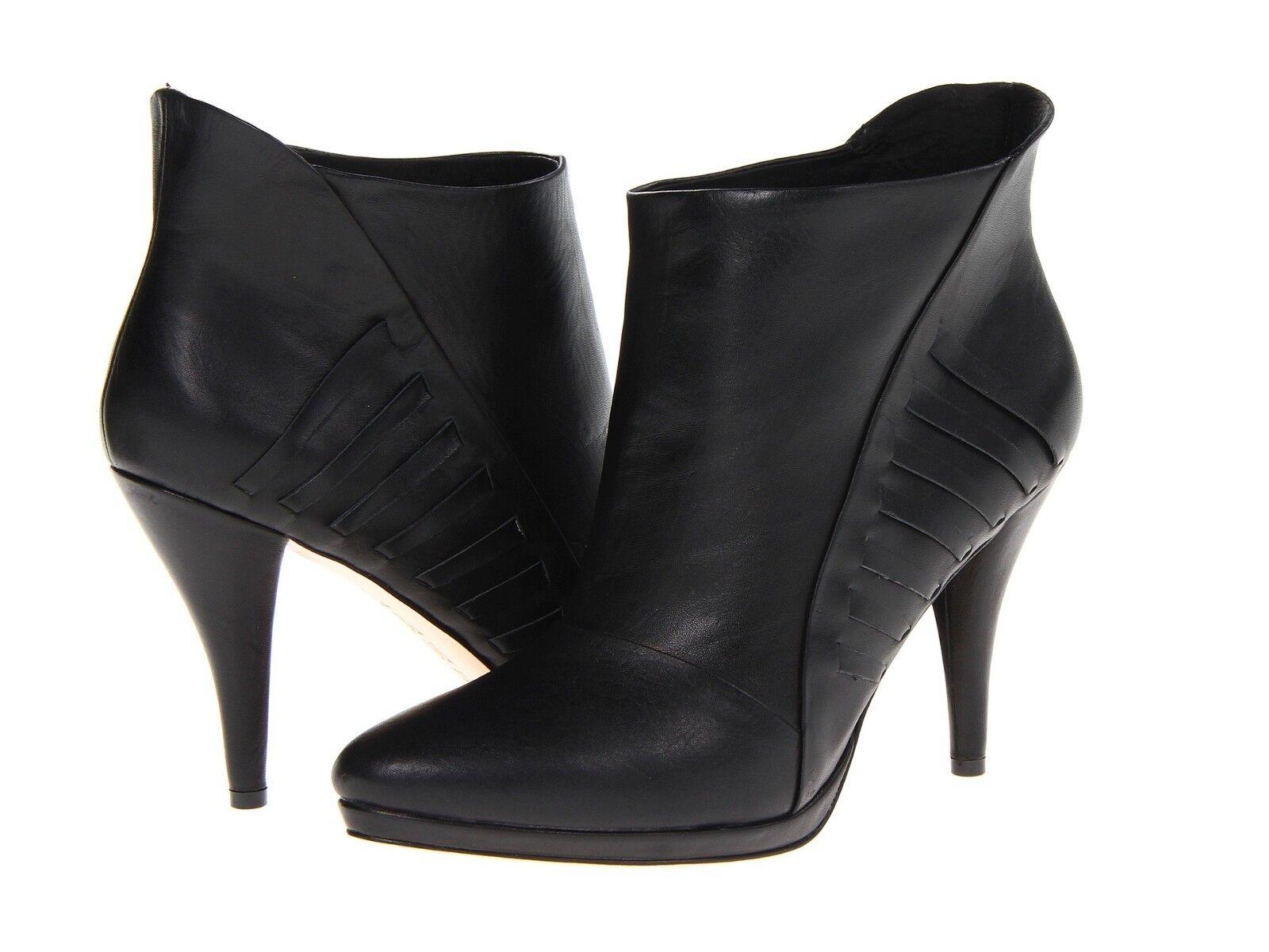 tutti i beni sono speciali L.A.M.B. Nyla nero Woven Leather Leather Leather Ankle stivali Dimensione 8  tutti i prodotti ottengono fino al 34% di sconto