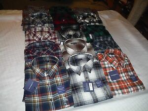 Long-Sleeve-Button-Down-Flannel-Shirts-Croft-amp-Barrow-All-Reg-Size-Multi-Color-N