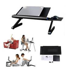 360° Foldable laptop Adjustable Desk Aluminum Table Stand Notebook Tray Fan Hole