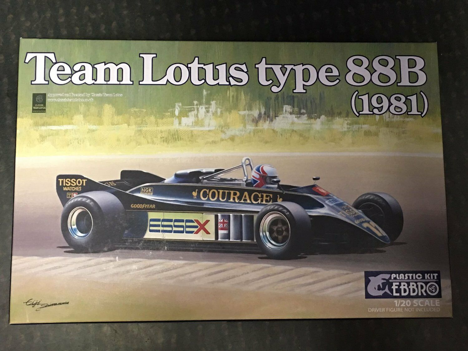 Ebbro 20010 team lotus type 88b 1981 1   20 maßstab kit
