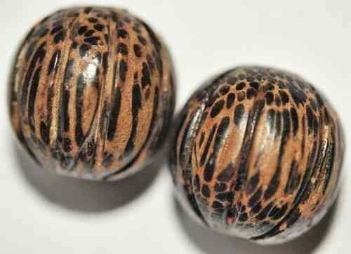 Y12-12 2 Palmholz-Perles//Boules 24 mm