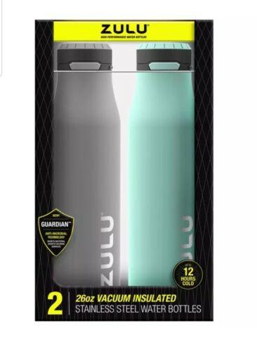 Zulu 26 oz acier inoxydable isolation sous vide Bouteille D/'Eau 2 Pack étanche One Touch environ 737.07 g