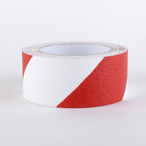 Strisce pellicole adesive antiscivolo segnalazione bianco/rosso 50mm x 18,3MT
