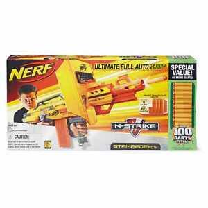 Brand New Nerf N Strike Stampede Ecs Dart Blaster Rare 100