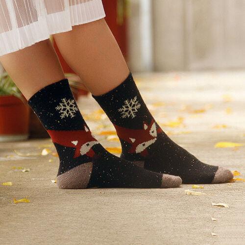 Fashion Winter Warm Womens Animal Printed Autumn Wool Blend Mid Cut Casual Socks