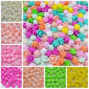 Mini-Foam-5cm-Roses-Wedding-Craft-Flower-Party-Decoration-Favour-Many-Colours