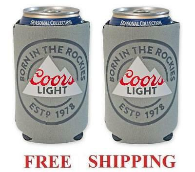 COORS LIGHT 2 BEER CAN HOLDERS COOLER COOZIE COOLIE KOOZIE HUGGIE NEW