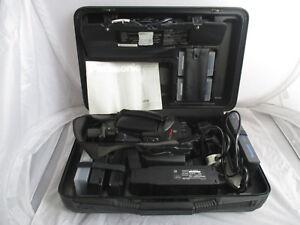 Panasonic-MC30-VHS-C-Movie-Camera-Recorder-amp-Playback-Cased-amp-Accessories-FAULTY